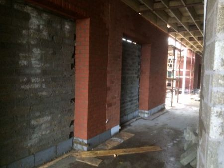 End of October 2015 - Corridor brick work nears completion